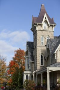 The Elm Hurst main building on an autumn day